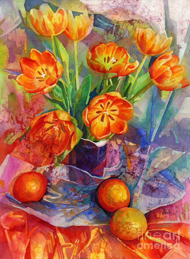 Still Life In Orange Painting