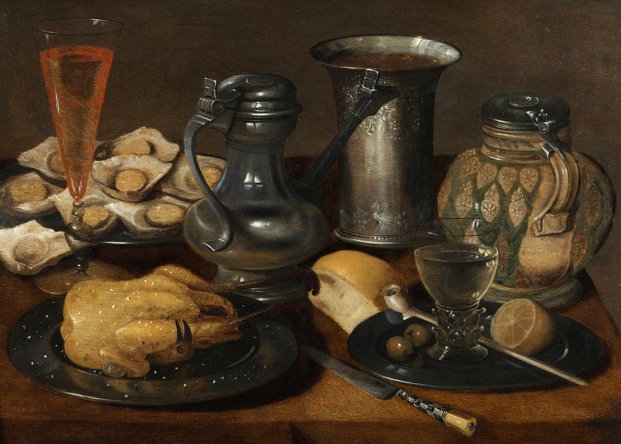17th Century Painting - Still Life by Master Hanauer school of the 17th century