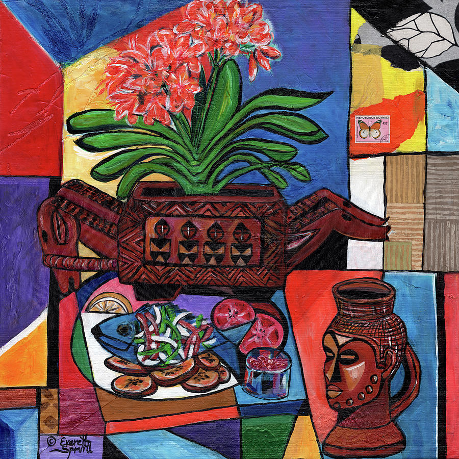 Still Life with Aduno Koro and Kuba Cup by Everett Spruill