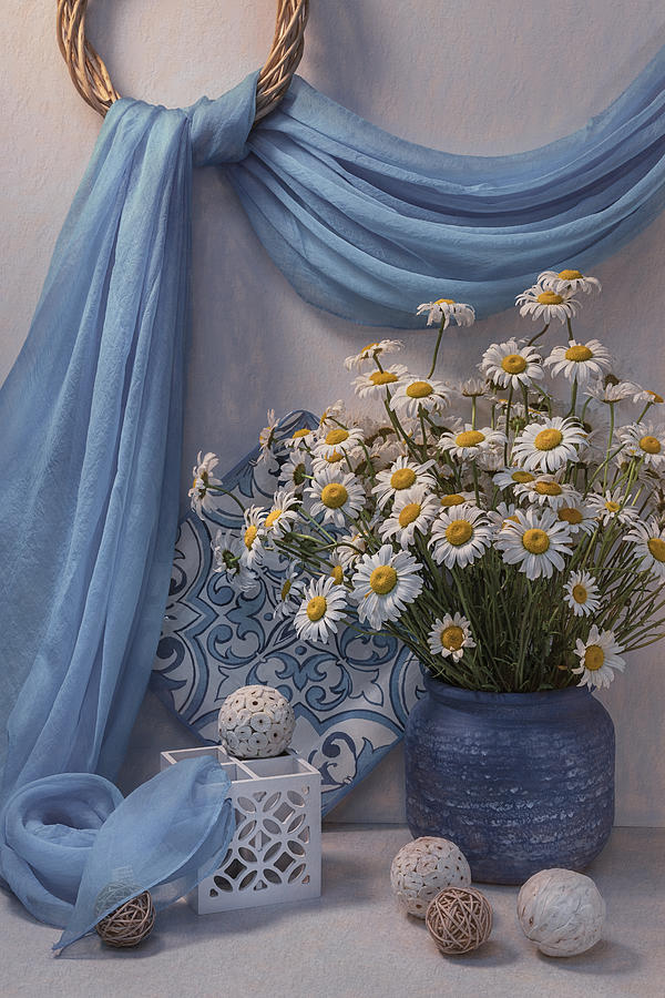 Wild Photograph - Still Life With Camomiles by Lydia Jacobs