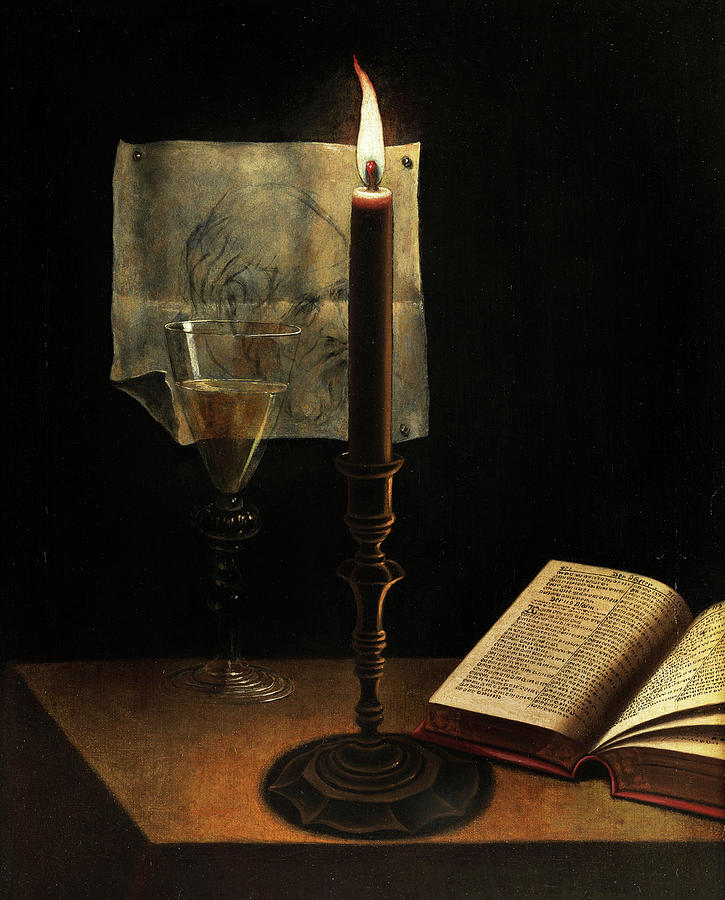 Candlelight Painting - Still Life With Candle by Unknown