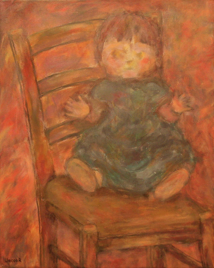 Doll Painting - Still Life With Doll And Chair by Jacob R