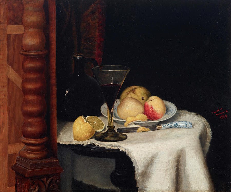 Still Life Painting - Still Life With Fruit by William Henry Huddle