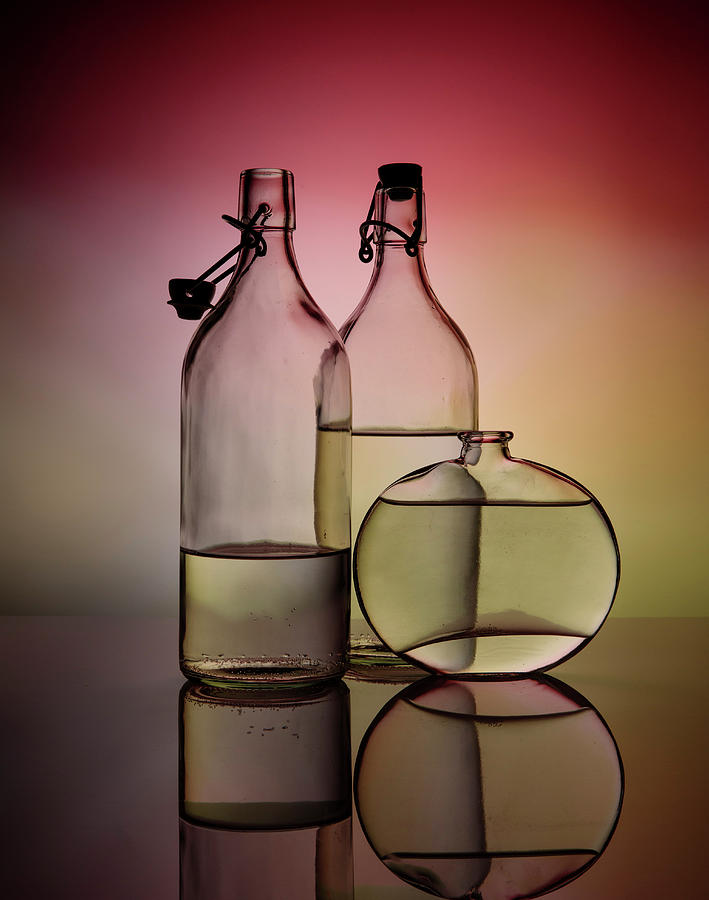 Still Life With Glass Bottles - Variant 01 Photograph