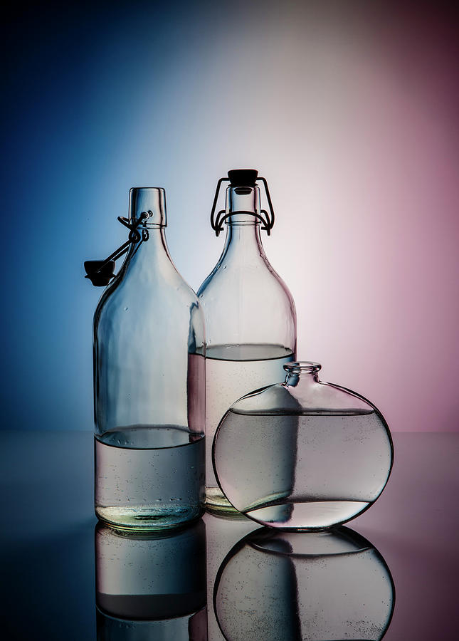 Still Life With Glass Bottles - Variant 02 Photograph