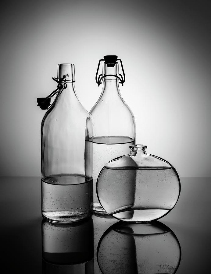 Still Life With Glass Bottles - Variant 03 Photograph