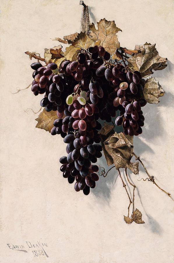 Edwin Deakin Painting - Still Life With Grapes, 1888 by Edwin Deakin