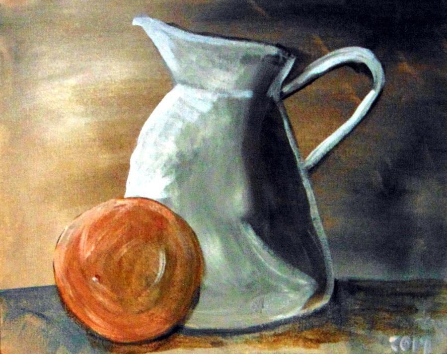 Still Life with orange by Loretta Nash