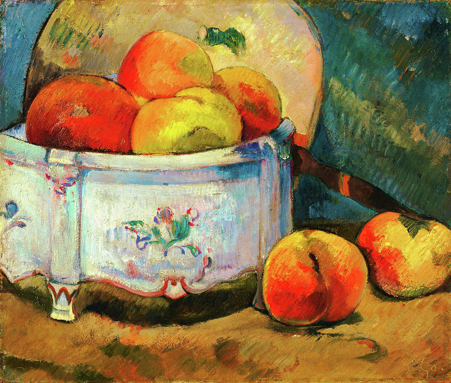 Still Life With Peaches Painting - Still Life With Peaches - Digital Remastered Edition by Paul Gauguin