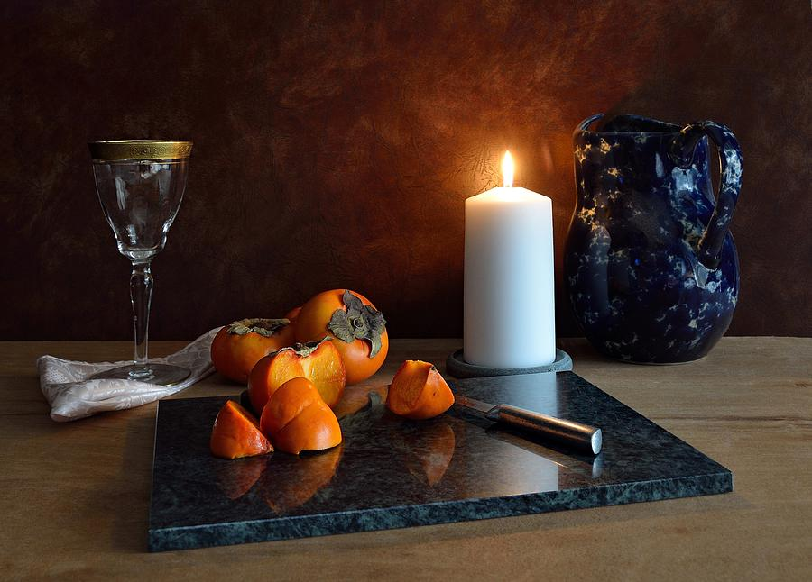 Still Life With Persimmons by Mark Fuller