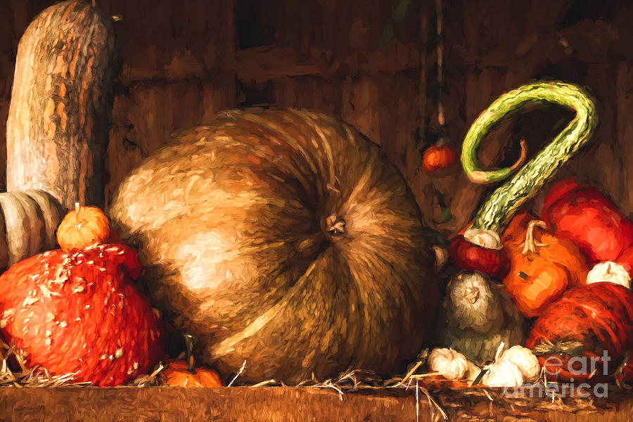 Still Life with Pumpkins by Jayne Wilson