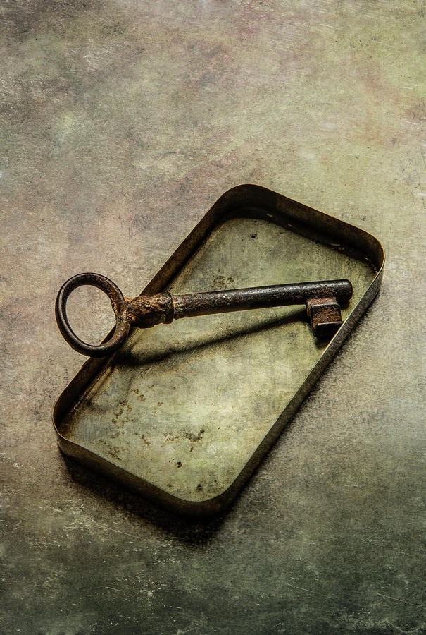 Still life with rusty key by Jaroslaw Blaminsky