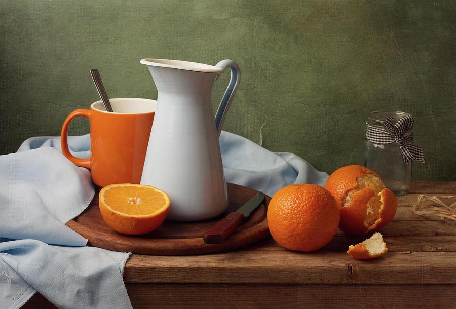 Still Life With Tangerines Photograph by Copyright Anna Nemoy(xaomena)