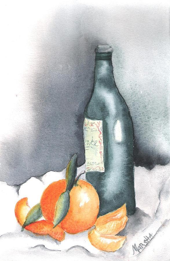 Still lLife with Orange by Marsha Woods