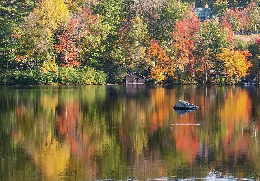 Still Reflection on Little Lake by Jeff Folger