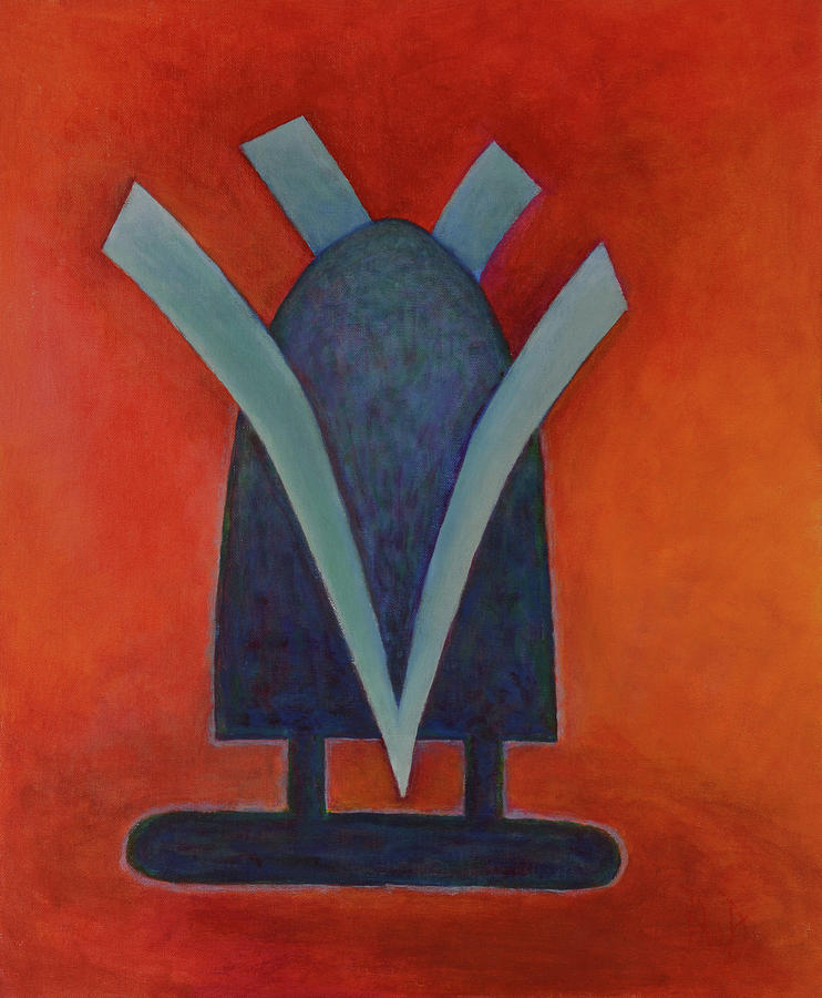 Geometric Abstracts Painting - Still Standing by David Douthat
