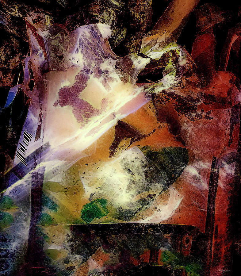 Abstract Digital Art - Still Standing by Ole Klintebaek