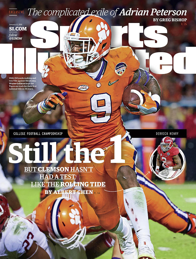 Still The 1, But Clemson Hasnt Had A Test Like The Rolling Sports Illustrated Cover Photograph by Sports Illustrated