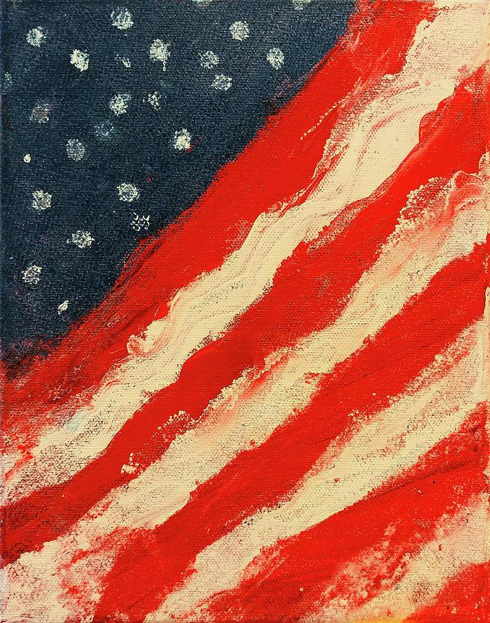 July 4 Painting - Still Waving by Trisha Pena