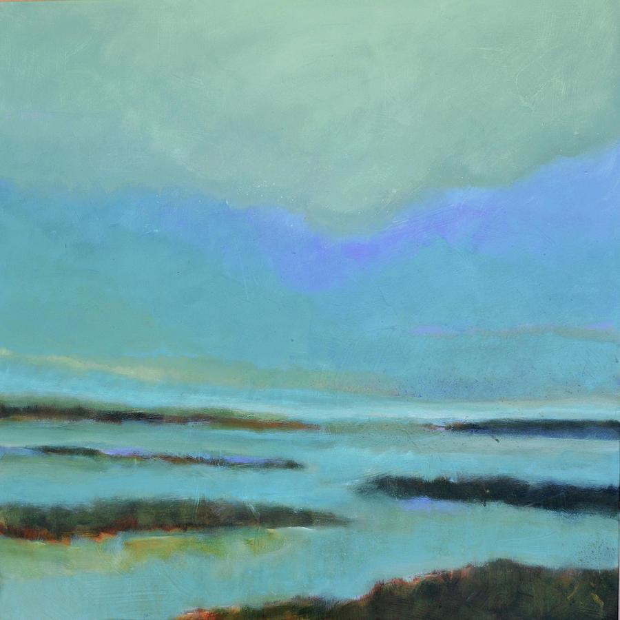 Marsh Painting - Stillness by Filomena Booth