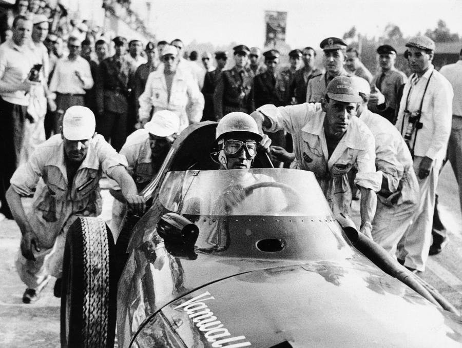 Stirling Moss In A Vanwall, Italian Photograph by Heritage Images