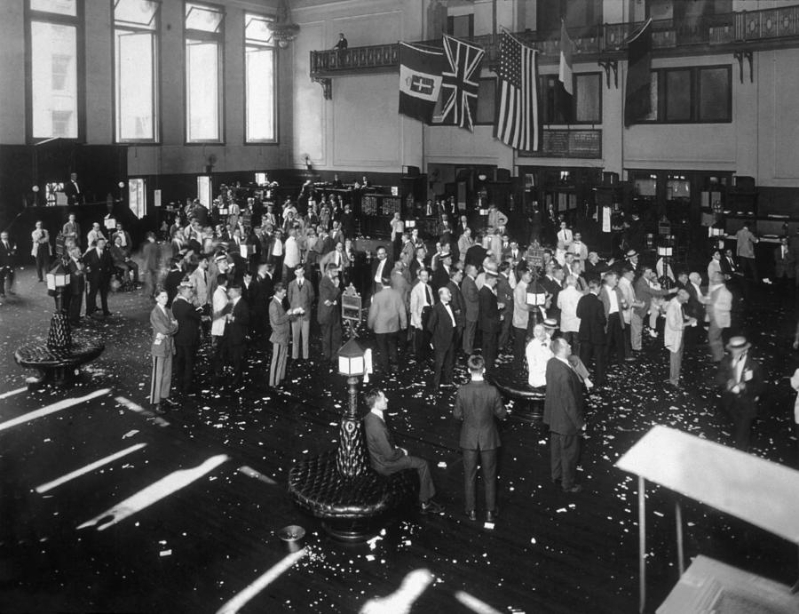 Stock Exchange Photograph by Edwin Levick