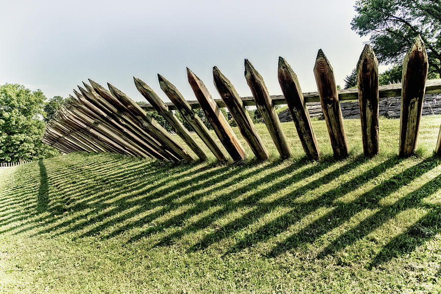 Stockade at Fort Ligonier by Carolyn Derstine