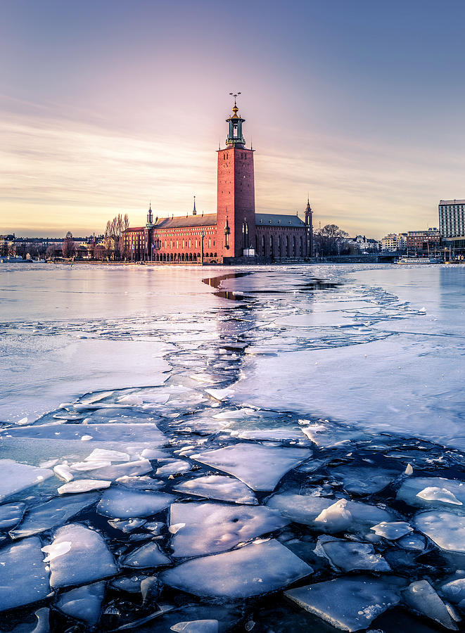 Stockholm Photograph - Stockholm City Hall In Winter by Nicklas Gustafsson