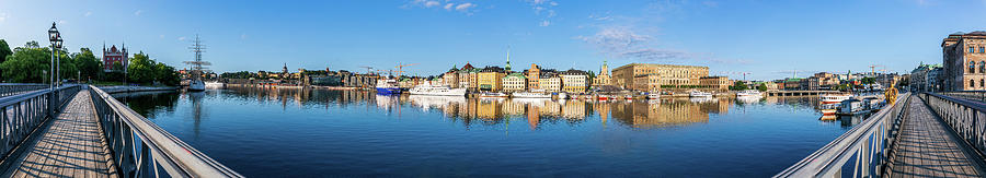 Stockholm Photograph - Stockholm Old City Fantastic Golden Hour Sunrise Reflection In The Baltic Sea by Dejan Kostic
