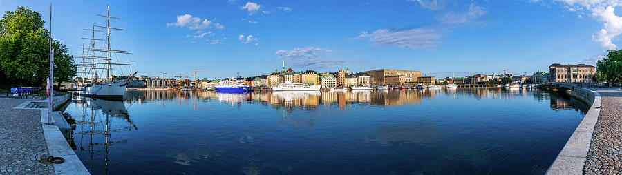 Stockholm Photograph - Stockholm Old City sunrise reflection in the Baltic Sea by Dejan Kostic