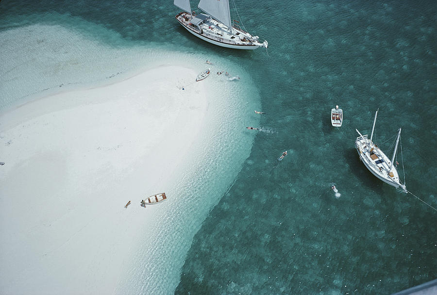 Stocking Island, Bahamas Photograph by Slim Aarons