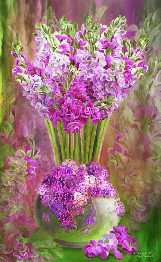 Stocks In Stock Vase by Carol Cavalaris