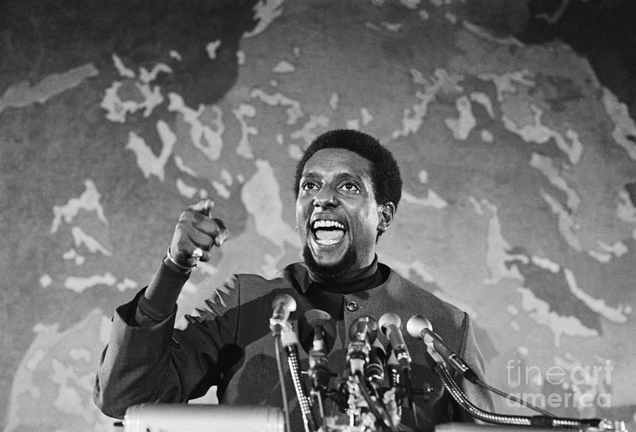 Stokely Carmichael Speaking At Civil Photograph by Bettmann
