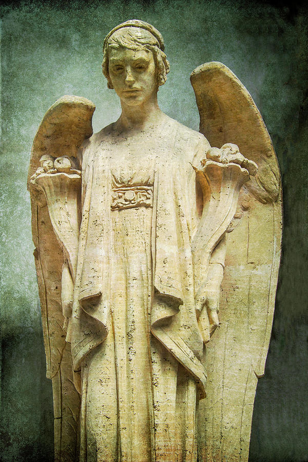 Angel Photograph - Stone Angle by Garry Gay