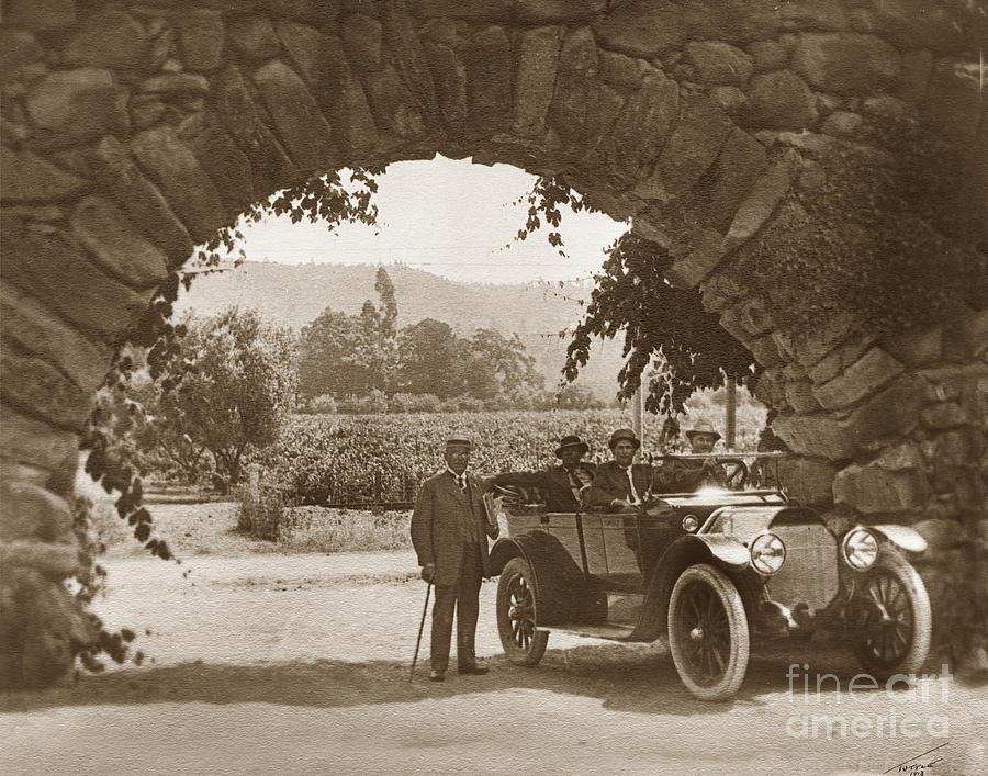 Stone arch of the entrance to the GREYSTONE WINERY was the home  by California Views Archives Mr Pat Hathaway Archives