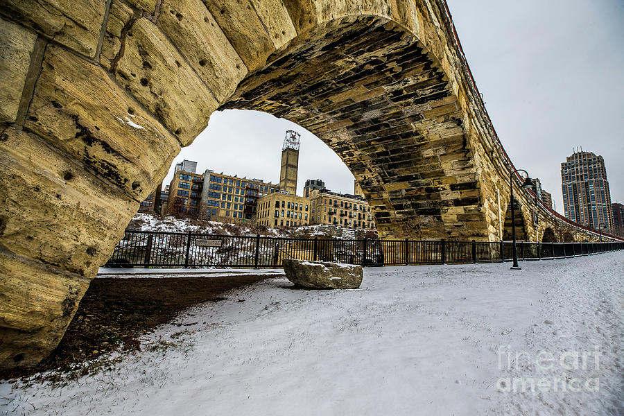 Stone Arch Winter Photograph