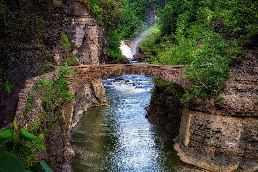 Stone Bridge Across the Genesee RIver by Rick Berk
