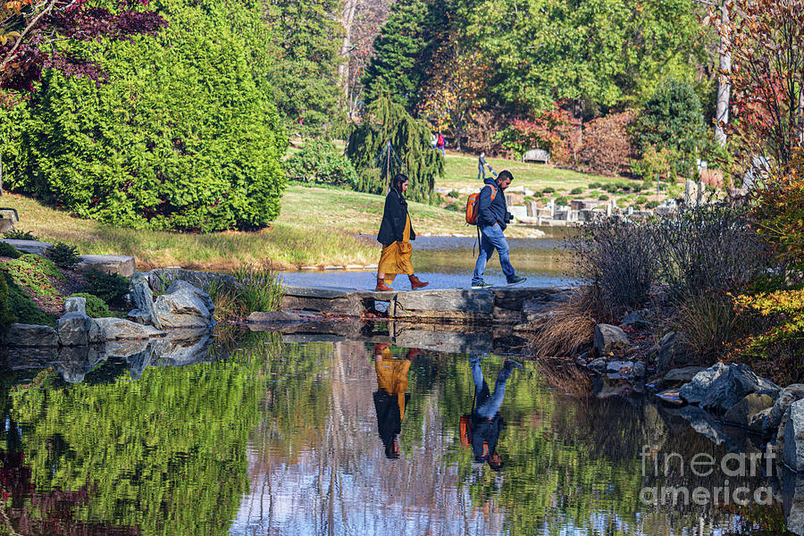 America Photograph - Stone Bridge, Brookside Gardens by Thomas Marchessault