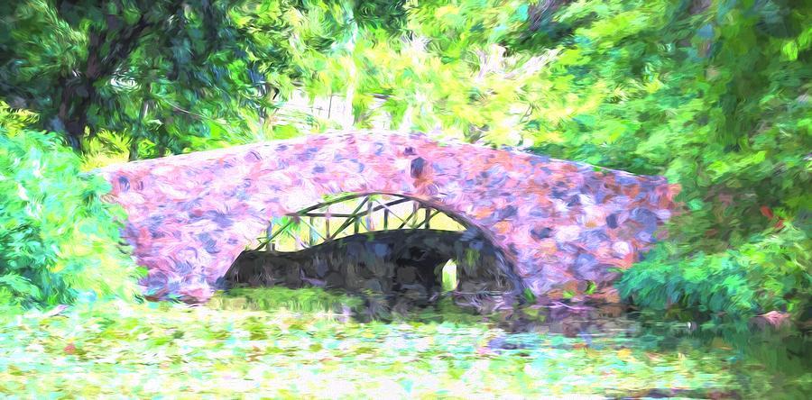 Stone Bridge Monet Style by Karen Silvestri