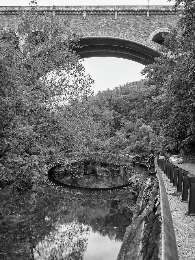 Stone bridges at Wissahickon Creek,  by Louis Dallara
