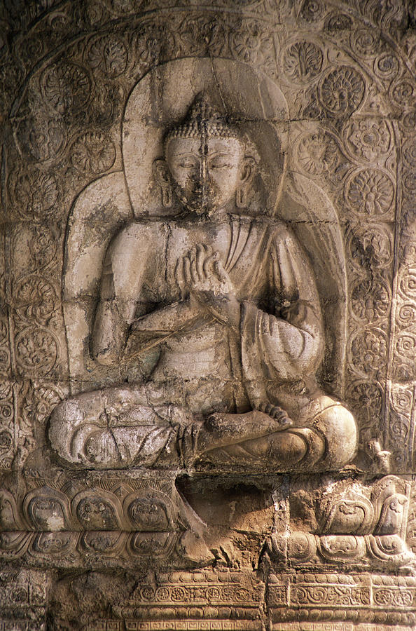 Stone Carved Buddha Photograph by James Gritz