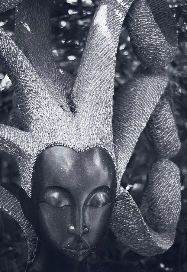 Sculpture Photograph - Stone Carving Of An African Woman by Graham Cornall