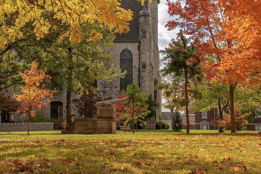 Stone Chapel Autumn by Allin Sorenson