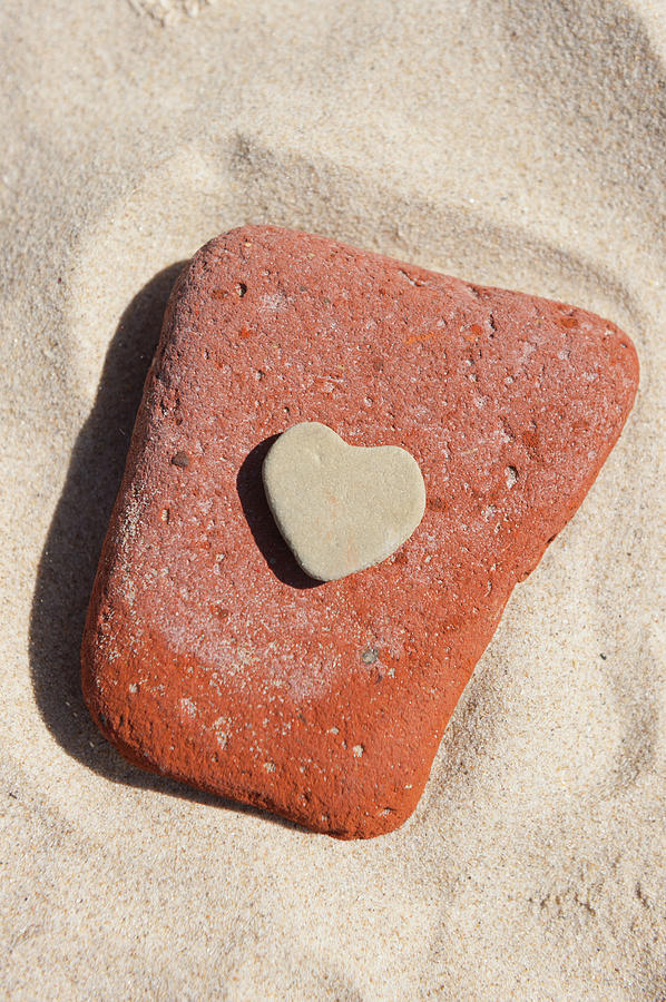 Stone Heart on Sand by Helen Northcott