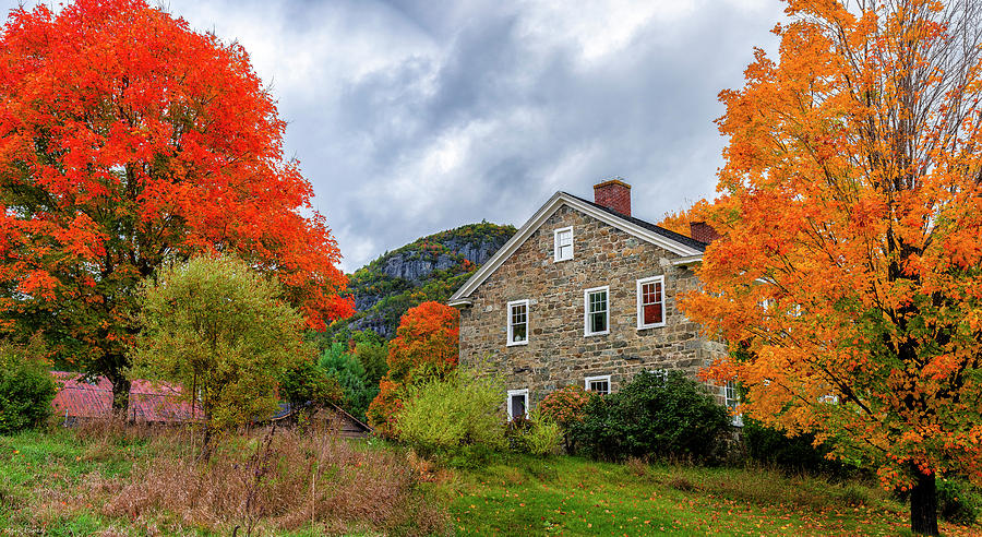 Stone House In Autumn by Mark Papke
