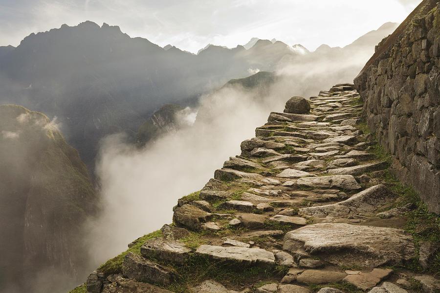 Stone Inca Trail Photograph by David Madison