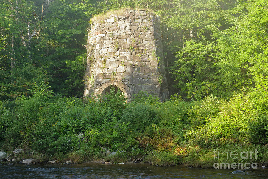 1800s Photograph - Stone Iron Furnace - Franconia New Hampshire by Erin Paul Donovan