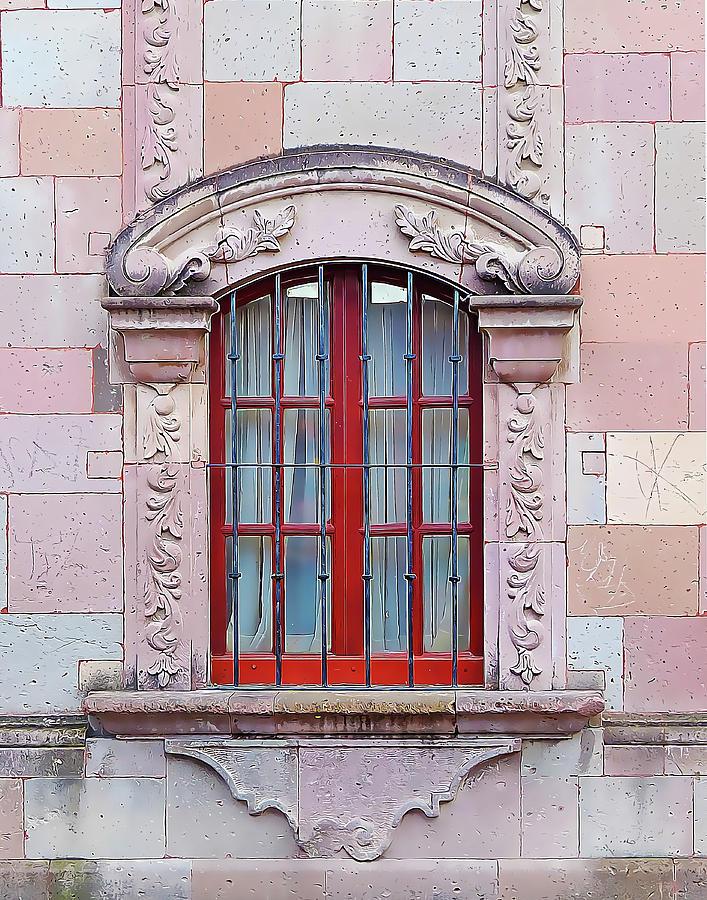 Stone Wall with Grand Window by Douglas J Fisher
