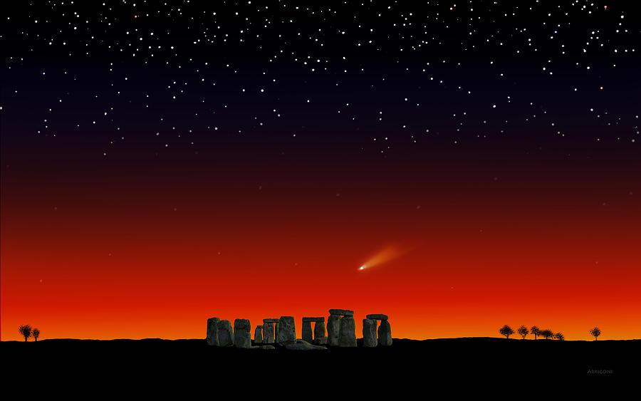 Stonehenge at Night by David Arrigoni