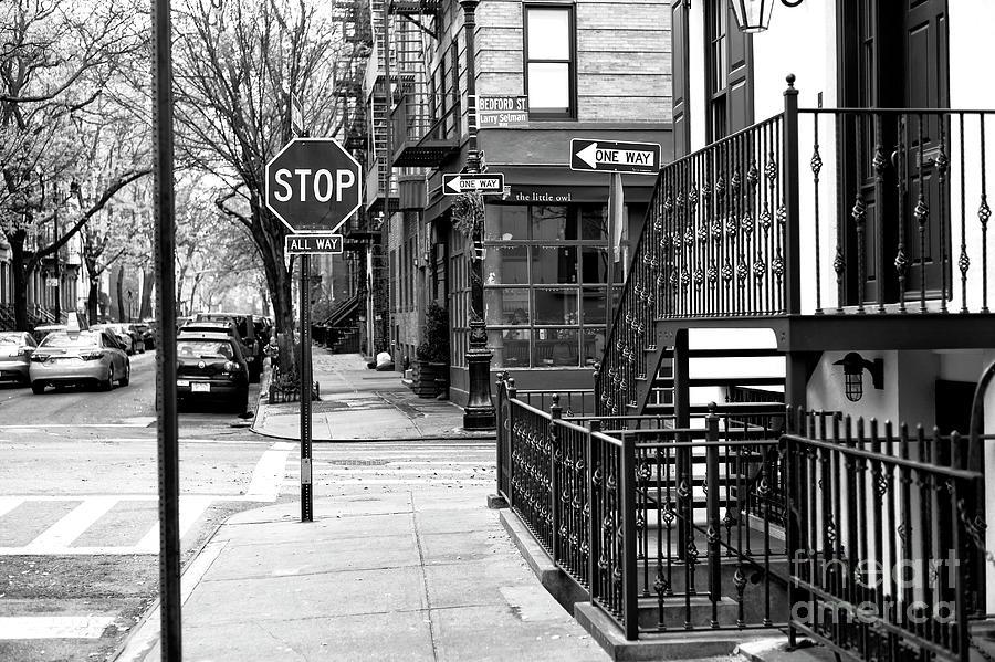 Sidewalk Photograph - Stop In Greenwich Village New York City by John Rizzuto